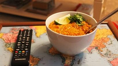 Recipe: Creamy chicken korma with a lentil sauce